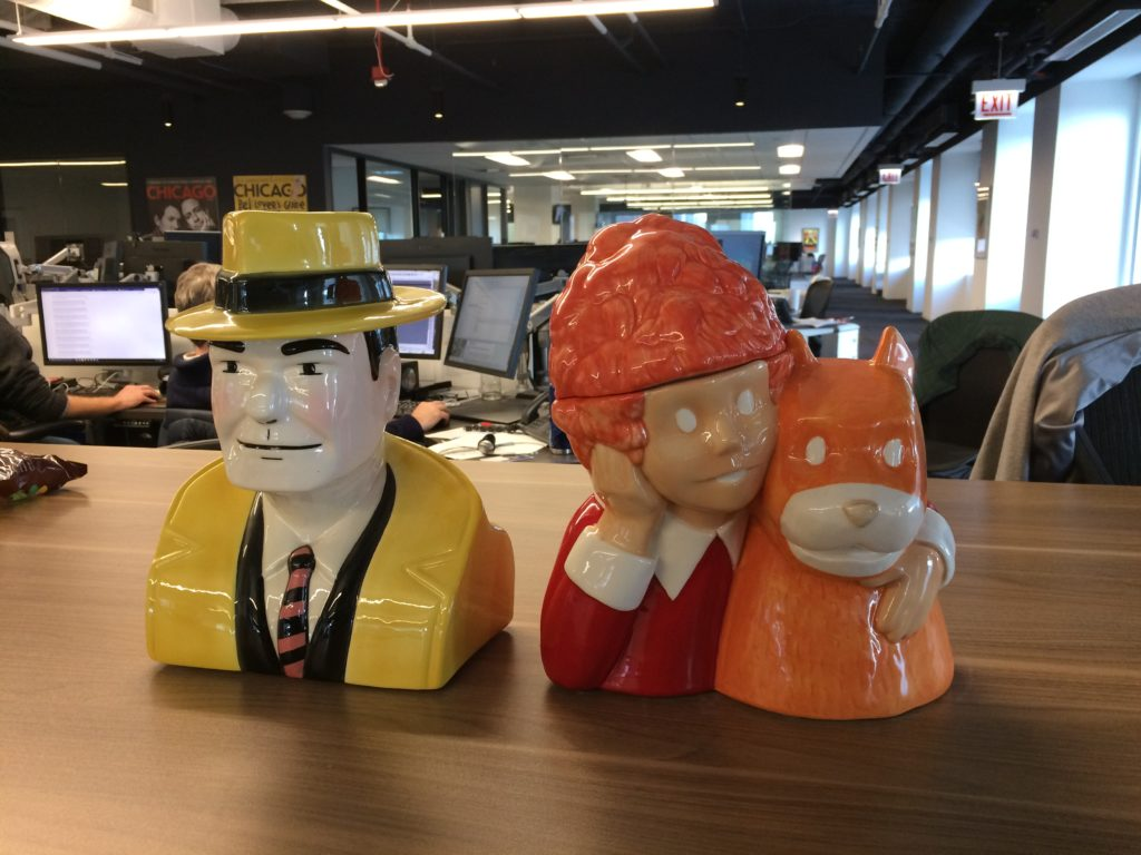 Dick Tracy and Annie cookie jar