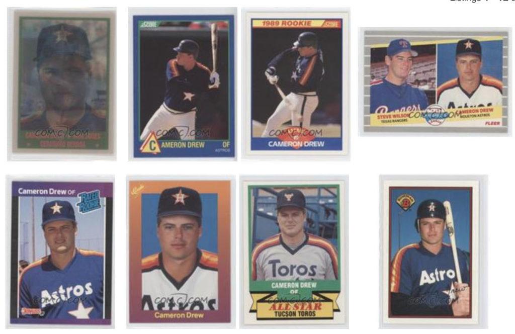 Cameron Drew baseball cards