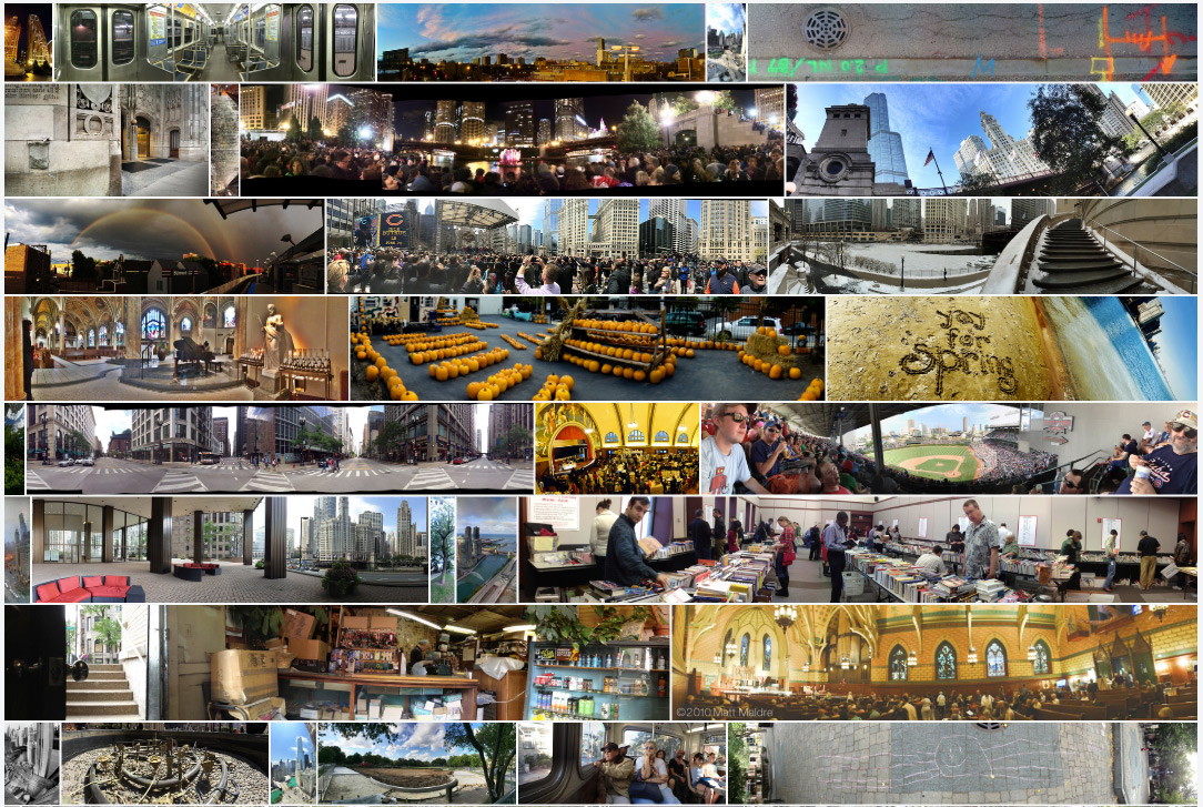 Collection of panoramic images photographed in Chicago