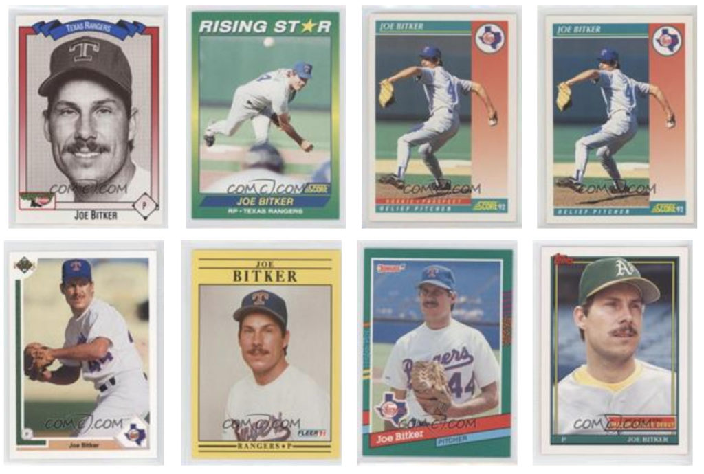 Joe Bitker baseball cards