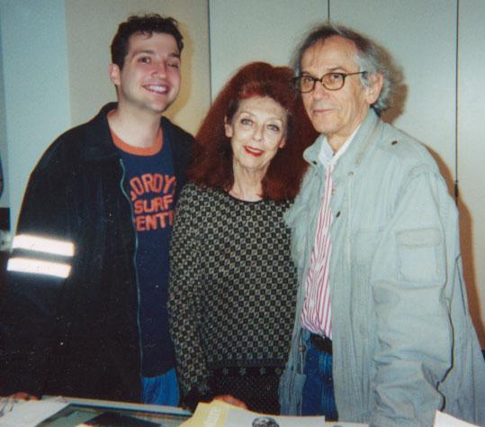 Matt Maldre with Christo and Jean-Claude