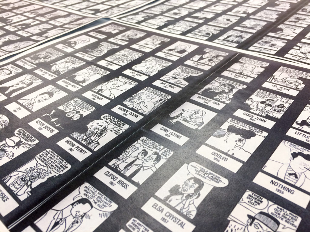Angle shot of Dick Tracy rogue printouts