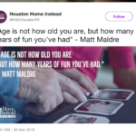 When a retirement home tweets a quotation from you — on your birthday