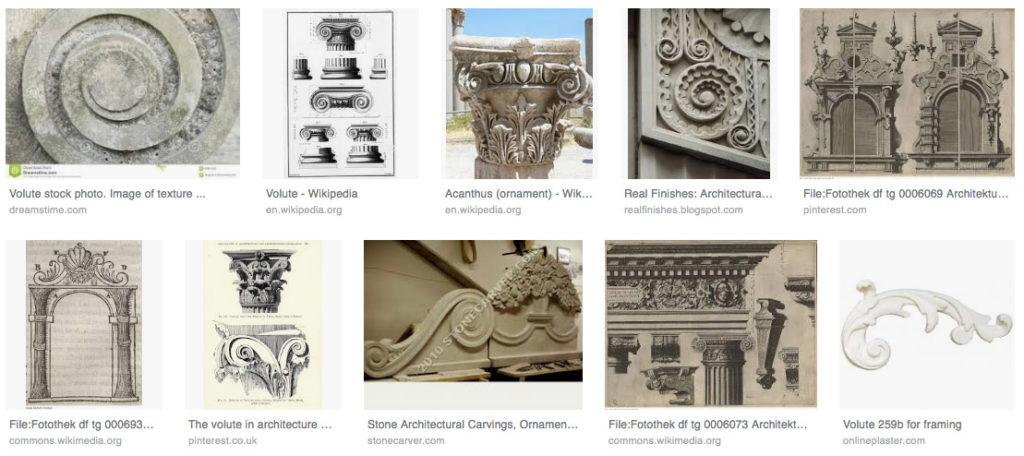 volute architecture ornament