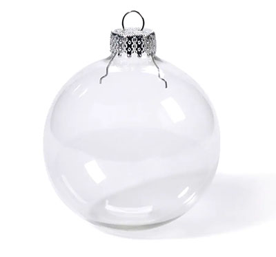 clear plastic ball ornament dollar store