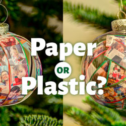 Paper ornament or plastic ornament?