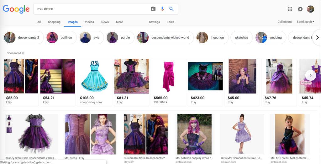 Google: mal dress