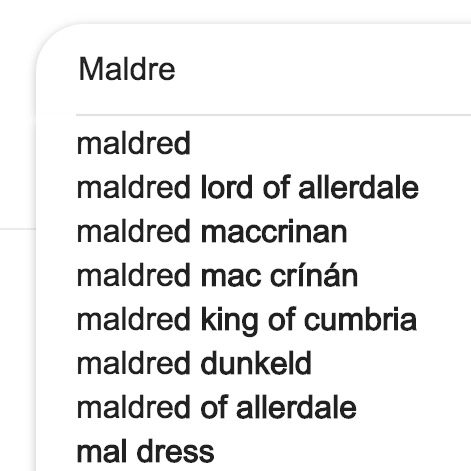 Google auto-complete for Maldre