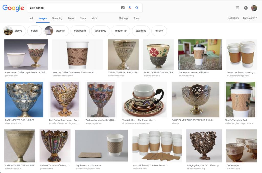 Zarf coffee: google images
