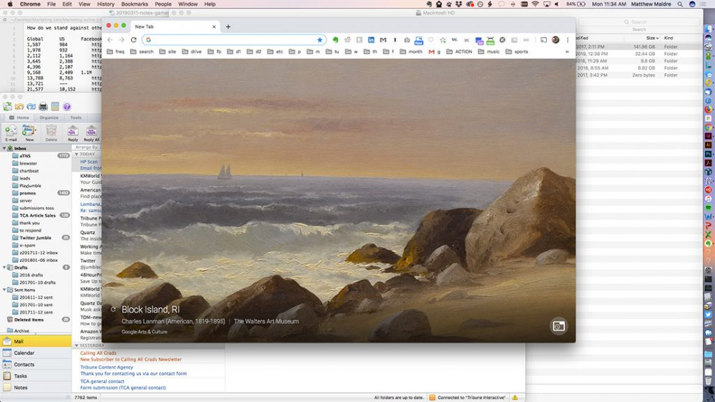 "Google Arts & Culture: ""Block Island, RI"" by Charles Lanma"