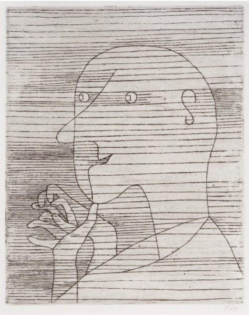 Rechnender Greis (Old Man Counting) by Paul Klee, 1929