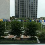 Sign of spring 2019: state flags return to Aon Center