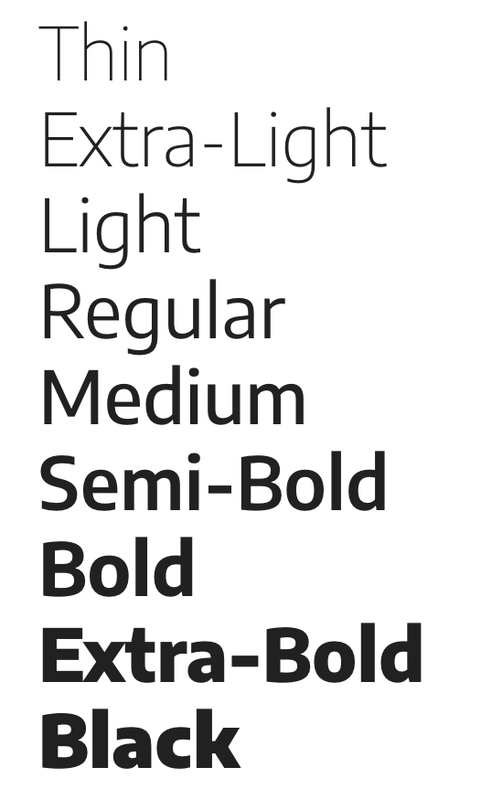 Encode typefaces