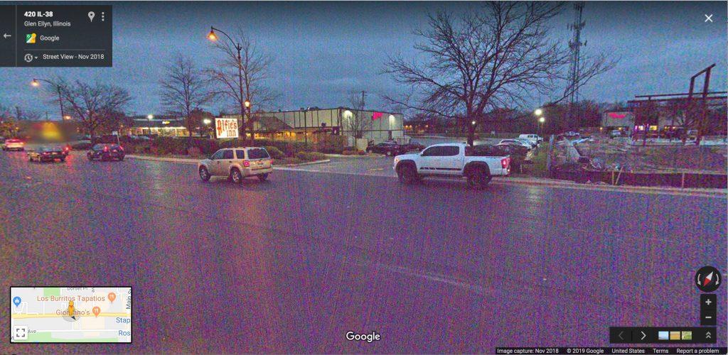 Google Streetview at night