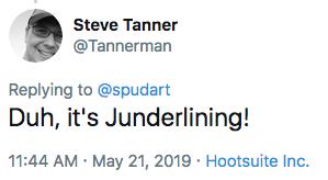 Duh, it's Junderlining!