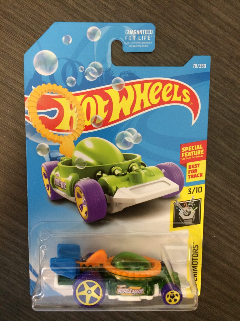 Bubble Matic Hot Wheels Experimotors car