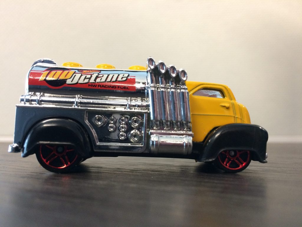 "side shot of Hot Wheels ""Fast Gassin"""