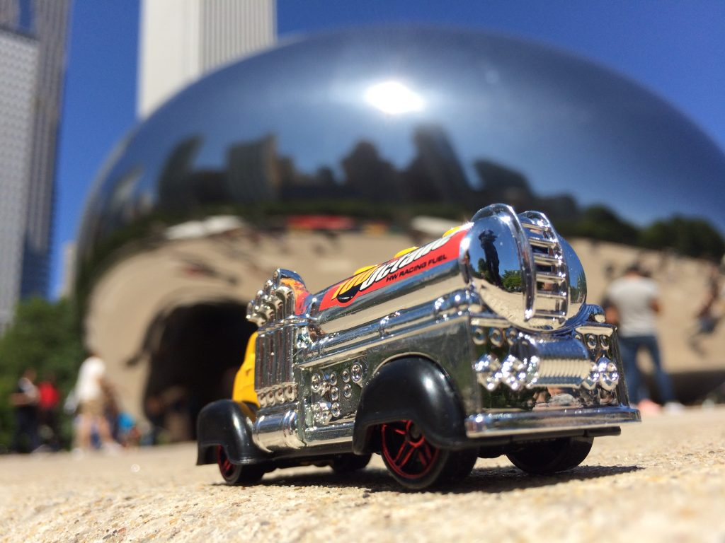 "Chicago Bean and Hot Wheels ""Fast Gassin"" heavy tanker truck"