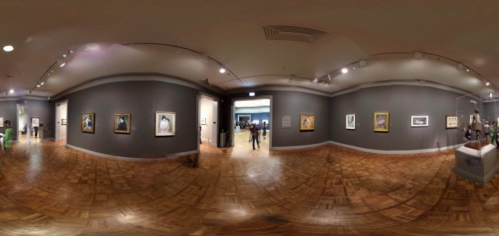 360-degree view of Prints and Drawings Gallery 242, in Art Institute of Chicago
