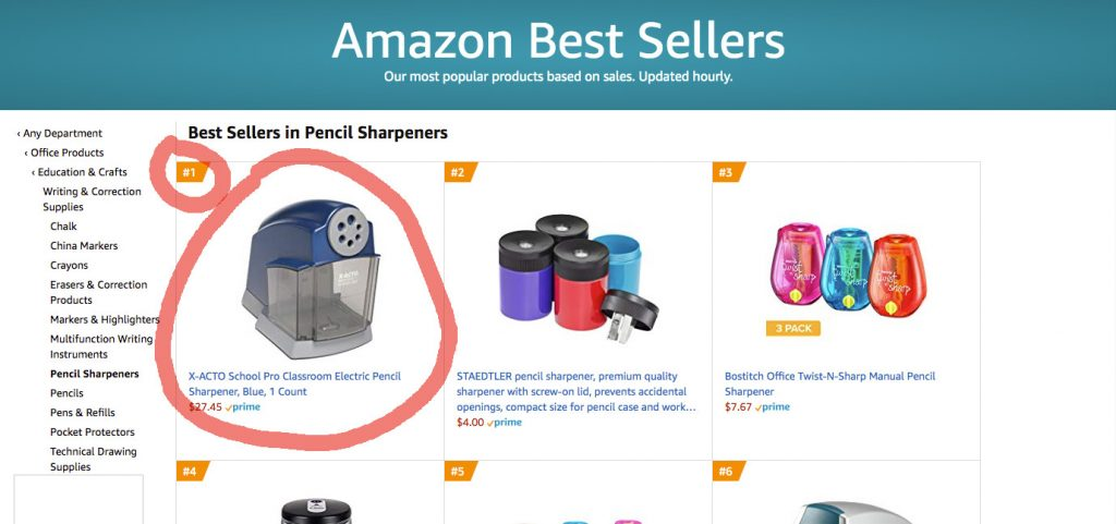Amazon Best Sellers: Pencil Sharpeners