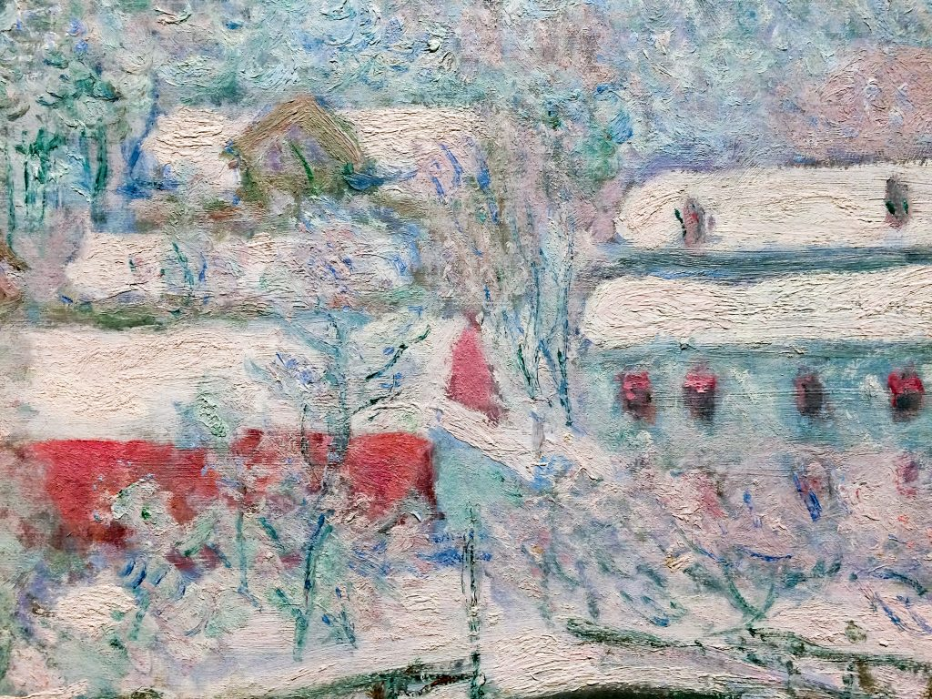 "Detail of Claude Monet ""Sandvika, Norway"""