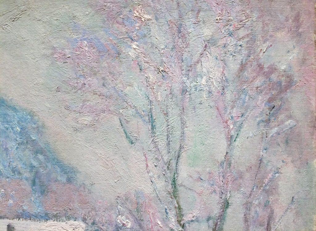 "Tree detail of Claude Monet ""Sandvika, Norway"""