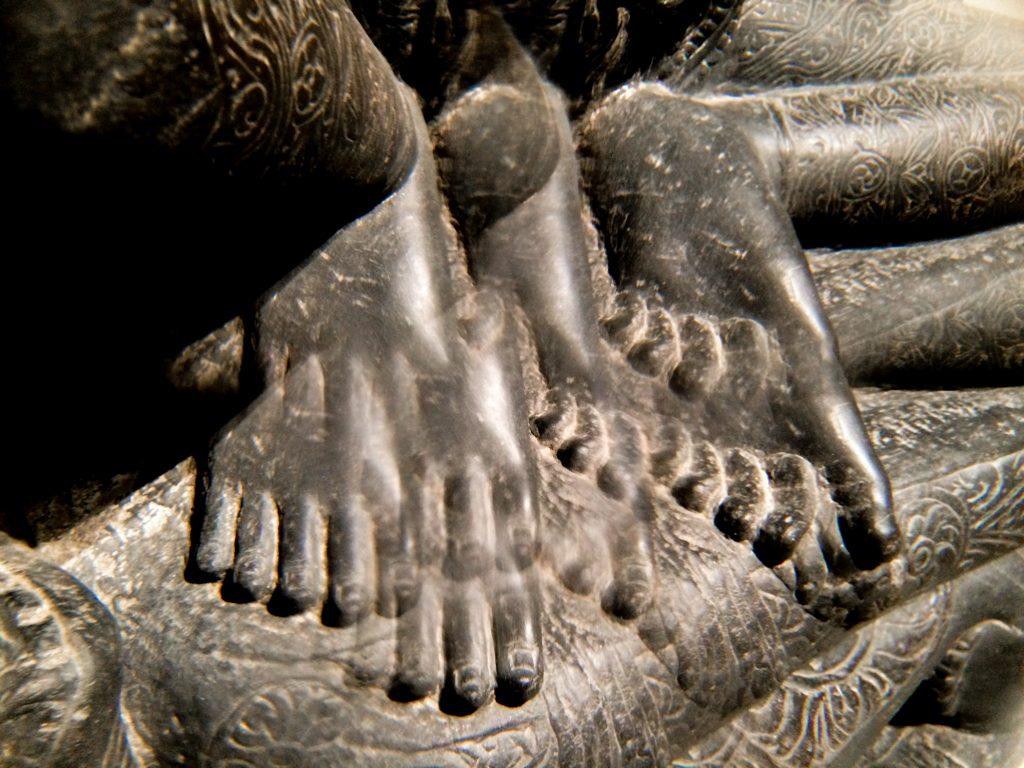 Bodhisattva Simhanada Lokeshvara (foot through kaleidoscope lens