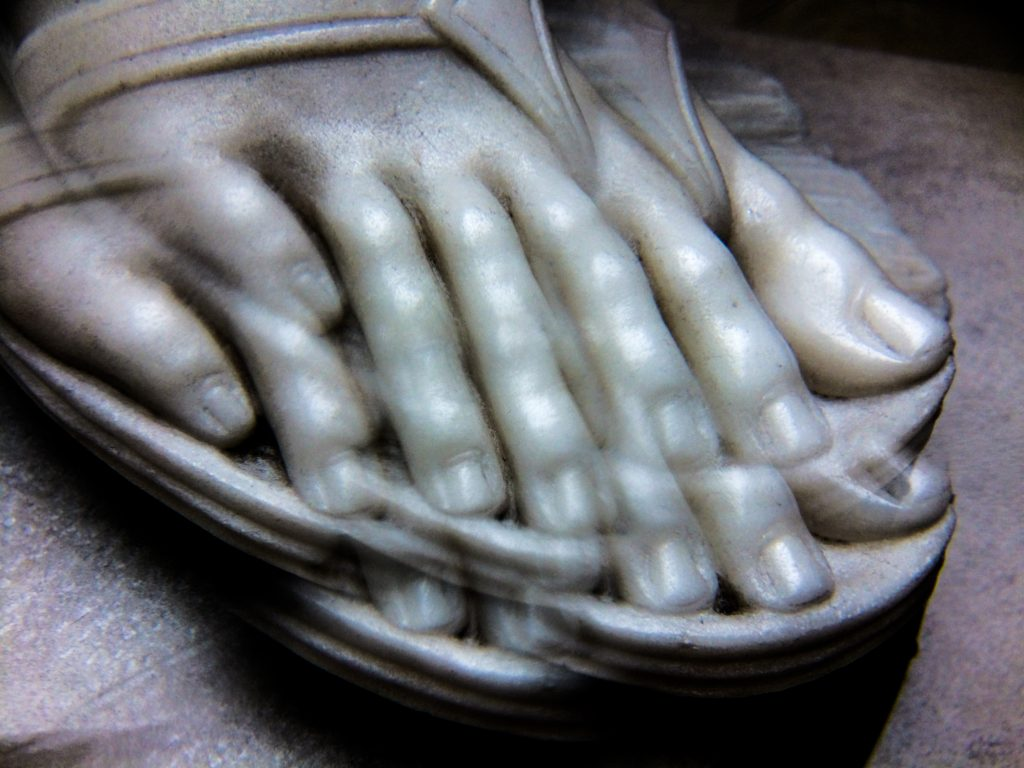 Jephthah's Daughter (foot through kaleidoscope lens)