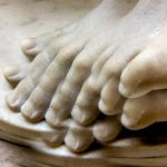 Multiple toes: photographs of statue feet with kaleidoscope lens