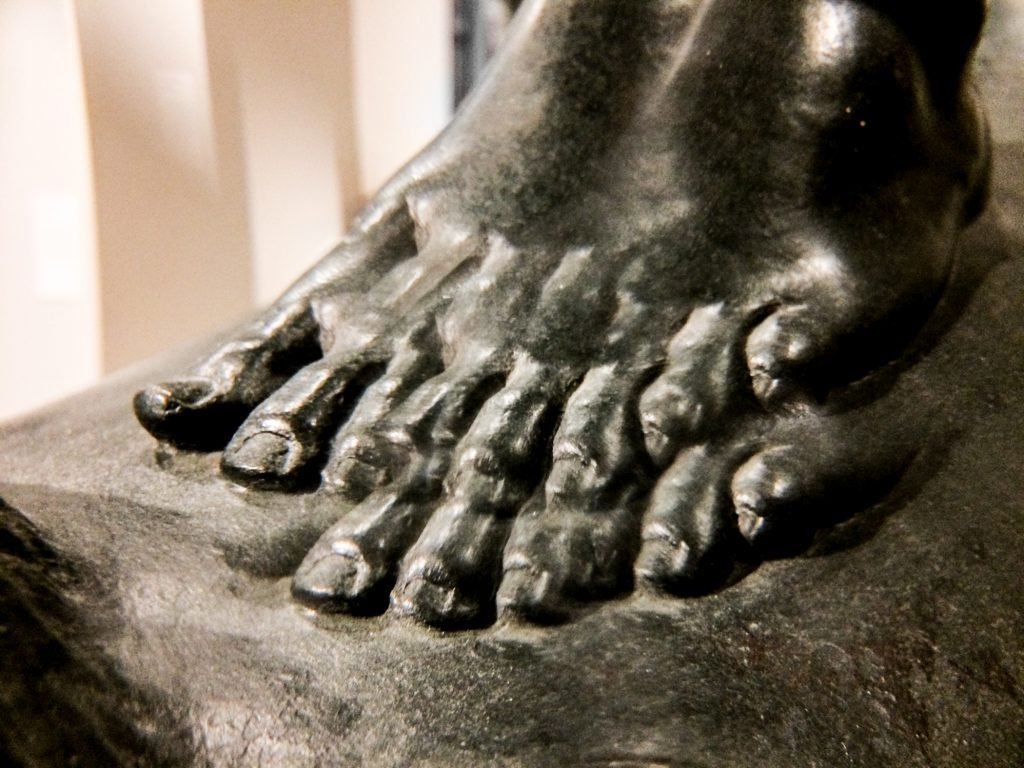 The Boy (foot through kaleidoscope lens)