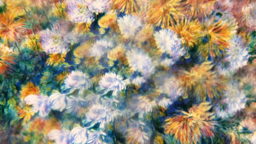 """""""Chrysanthemums"""" by Pierre-Auguste Renoir (kaleidoscope)"""
