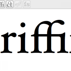 Griffin with ligatures for ff and fi: Hoefler text