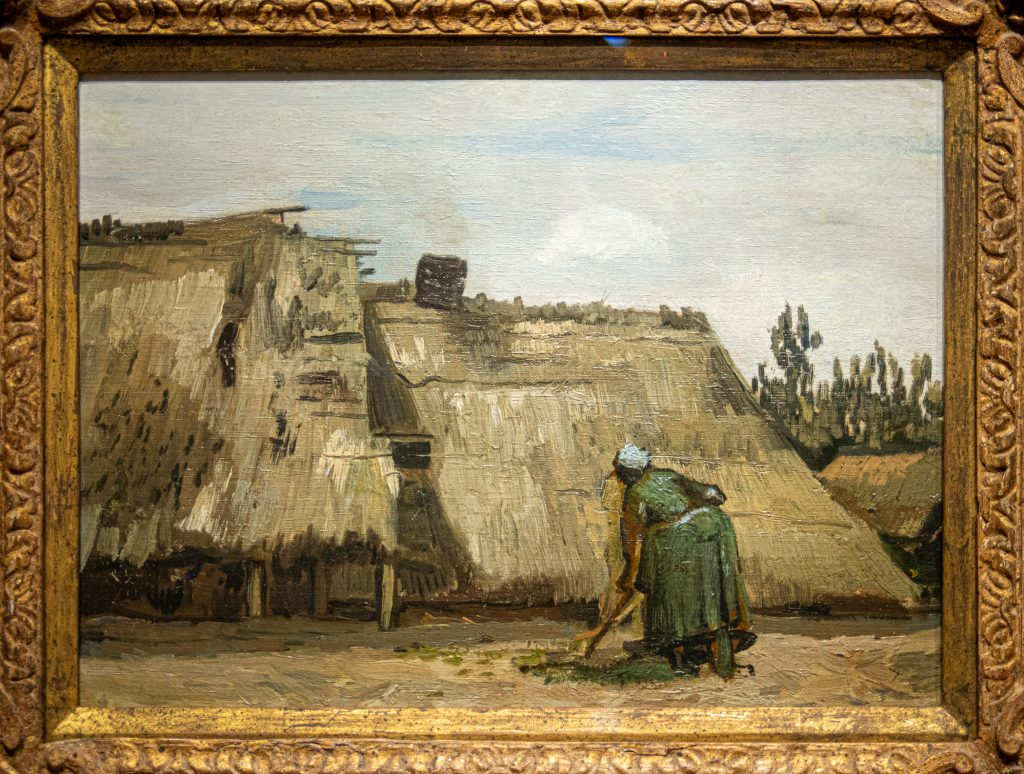 """A Peasant Woman Digging in Front of Her Cottage"", c. 1885 by Vi"