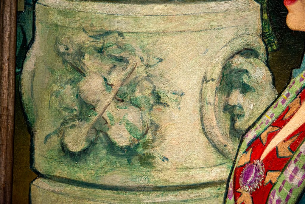 """Background detail (""""An Elegant Woman at the Élysée Montmartre"""""""