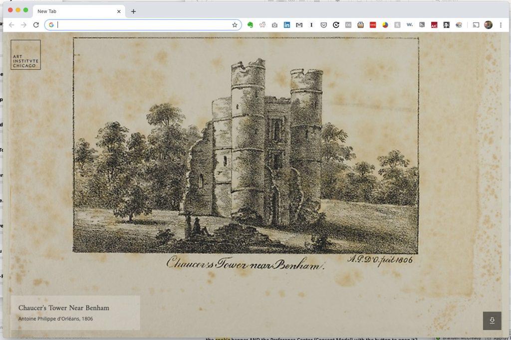 Chaucer's Tower Near Benham