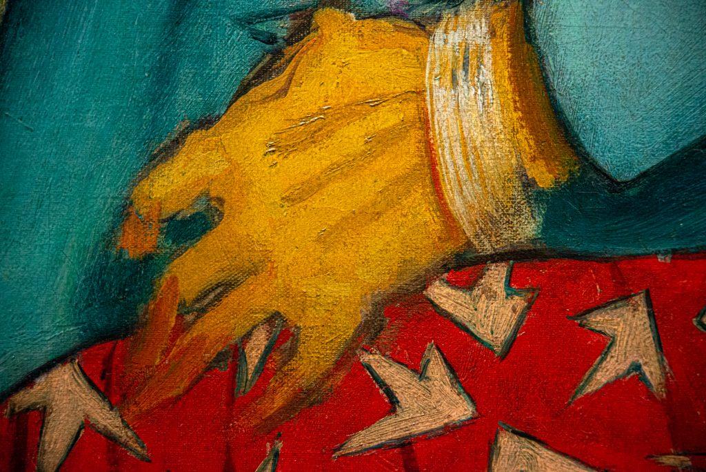 "Detail of glove (""An Elegant Woman a"