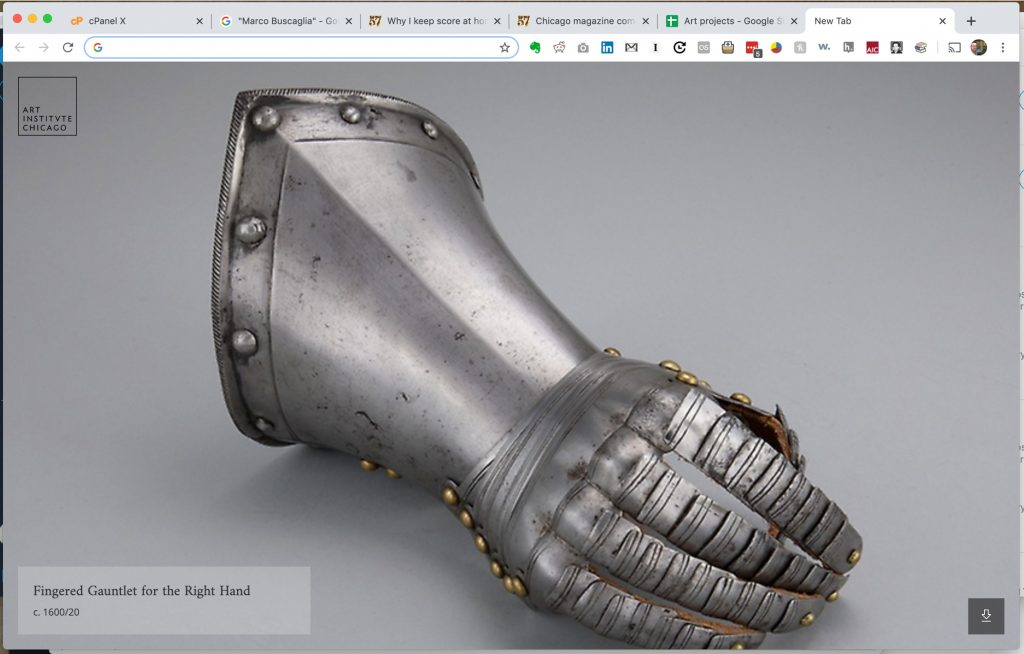 Fingered Gauntlet for the Right Hand