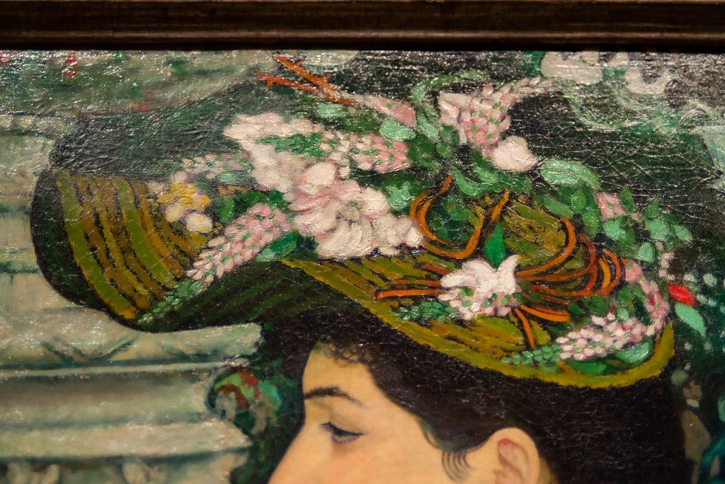 """Hat detail (""""An Elegant Woman at the Élysée Montmartre"""", 1888"""