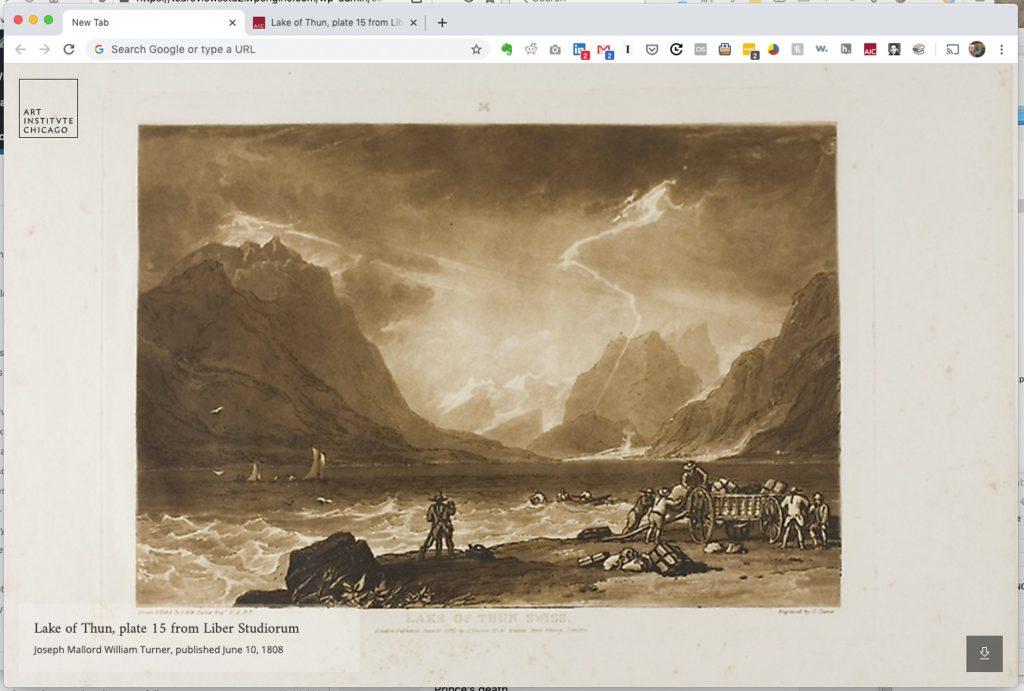 Lake of Thun, plate 15 from Liber Studiorum