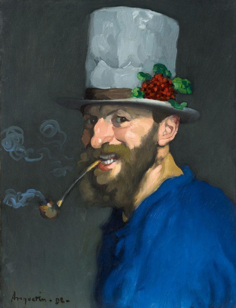 Louis Anquetin - Autoportrait à la pipe, 1892
