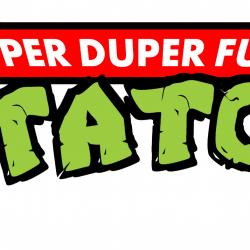 Super Duper Fun Potatoes logo in style of Teenage Mutant Ninja Turtles logo