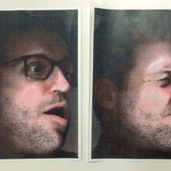 Two self-portraits using xerox machine, January 15, 2020