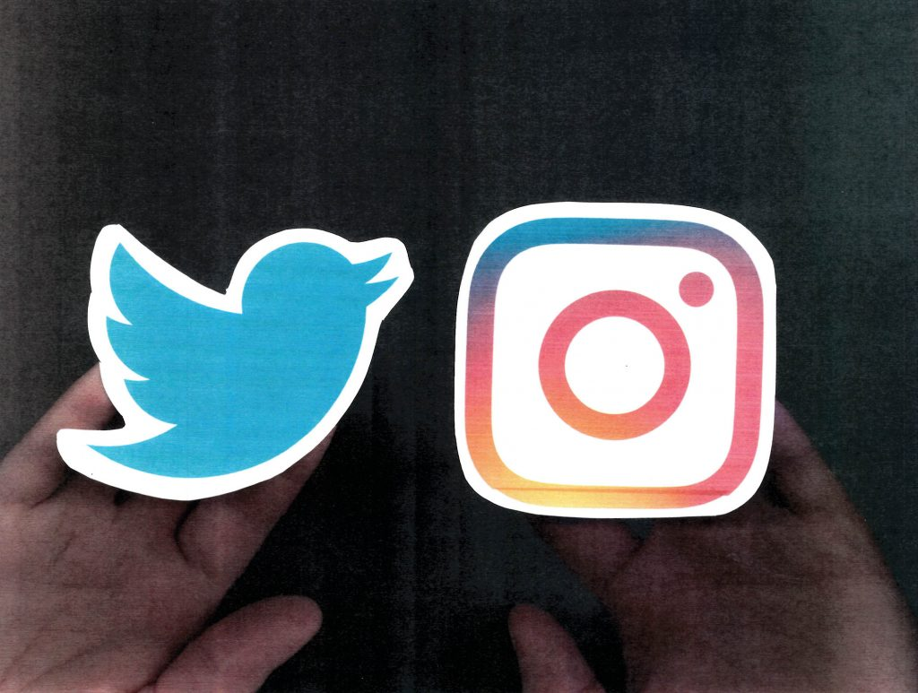Scan of Twitter and Instagram icons