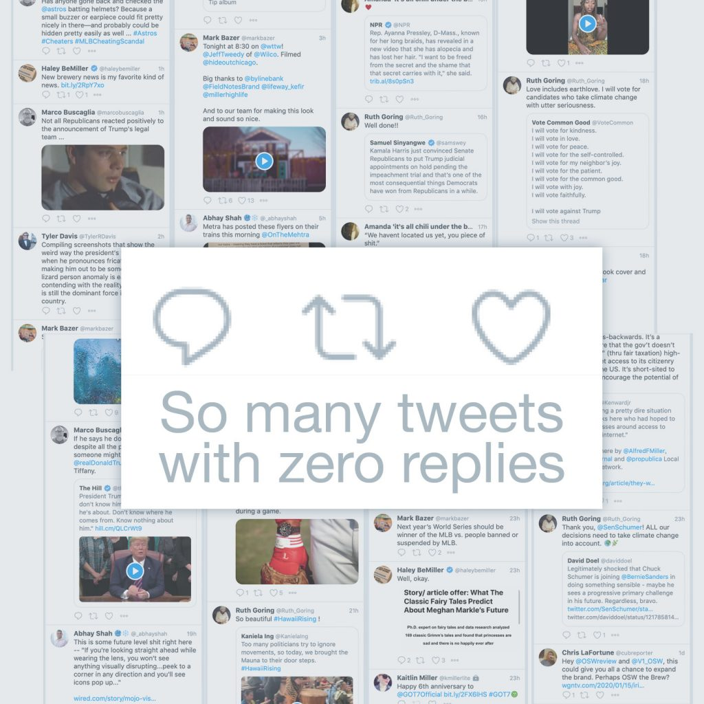 so many tweets with zero replies