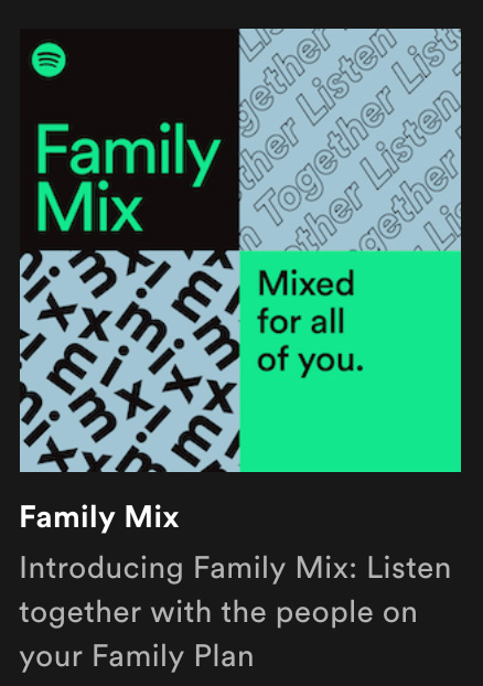 Spotify family mix preview
