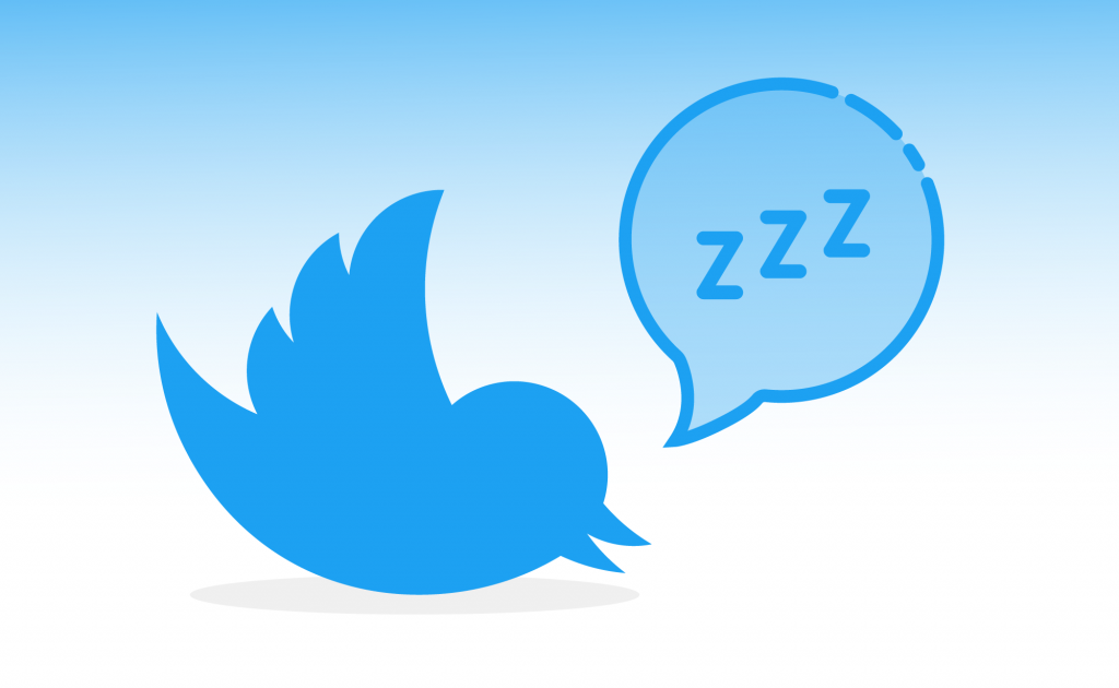 Twitter sleeping, napping, vacation