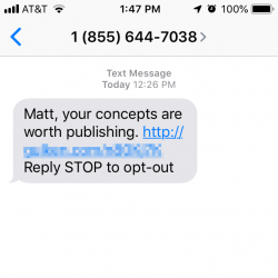 Matt, your concepts are worth publishing.