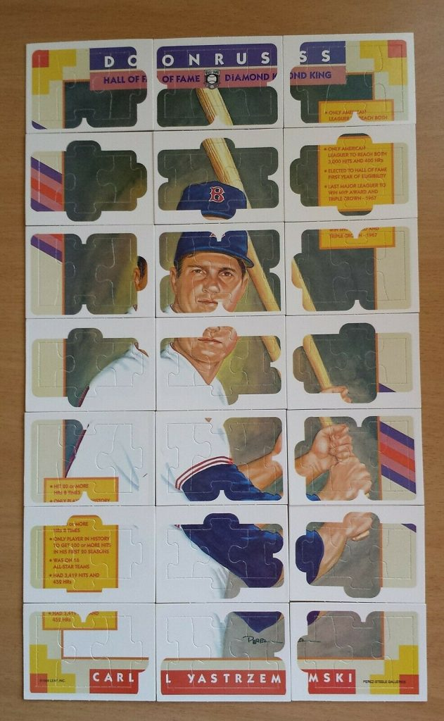 Carl Yastrzemski complete puzzle in card form 1990 Donruss Diamond Kings