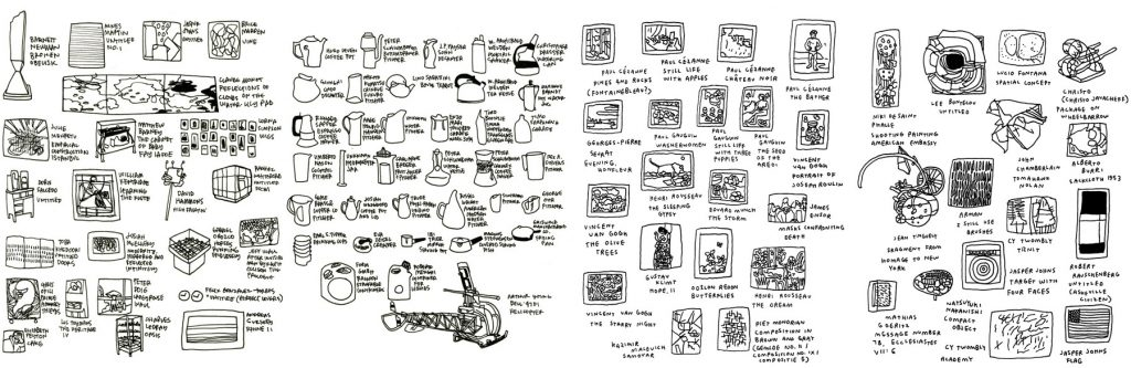 Every Piece of Art in the Museum of Modern Art by Jason Polan
