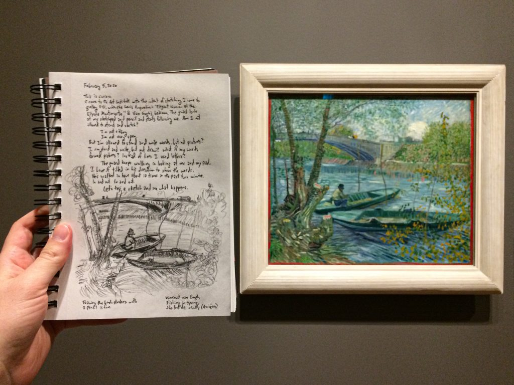 "Sketch of van Gogh's ""Fishing in Spring, the Pont de Clichy (Asn"